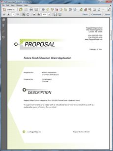 Ranching Educational Grant Funding Sample Proposal - Create your own custom proposal using the full version of this completed sample as a guide with any Proposal Pack. Hundreds of visual designs to pick from or brand with your own logo and colors. Available only from ProposalKit.com (come over, see this sample and Like our Facebook page to get a 20% discount)