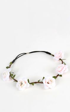 Blooming Roses Floral Crown, so sweet!!  | MakeMeChic.com
