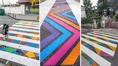 Les passages piétons colorés de Madrid par Christo Guelov - http://www.2tout2rien.fr/les-passages-pietons-colores-de-madrid-par-christo-guelov/