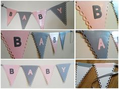 PERSONALISED banner Paper bunting with large by Beautificator