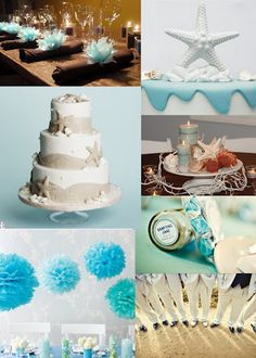 Beach themed things for wedding  (cute color)