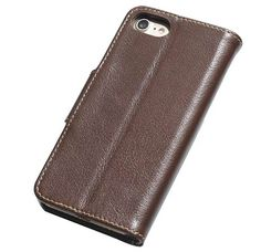 Real Genuine Cowhide Leather iPhone 7 Luxury Wallet Stand Case