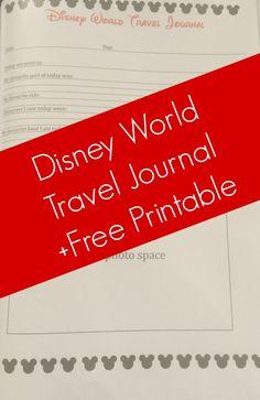 Disney Travel Journal - Free Printable