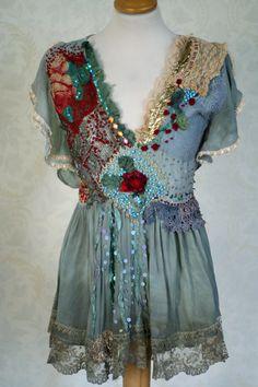 Juliette romantic embroidered tunic vintage by FleursBoheme