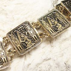 Vintage Belt Egyptian Metal Chain by PurpleDaisyJewelry on Etsy