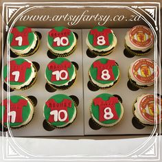 Manchester Soccer Cupcakes #manchestersoccercupcakes