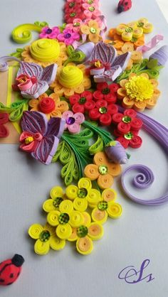 Quilling fowers Orchid   Made by Sisie