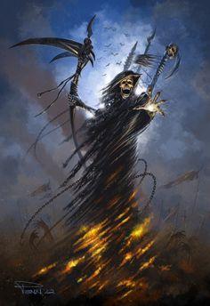 Reaper, #Fantasy, #Paintings & #Airbrushing