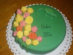 Dort pro Alču a Ondříka (můj dort), růže a pa ještěrka