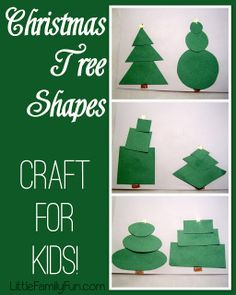 Little Family Fun: Christmas Tree Shapes