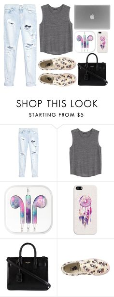 """""""Everyday outfit #4"""" by eliska-dostalova ❤ liked on Polyvore featuring One Teaspoon, MANGO, Casetify, Yves Saint Laurent, Vans, women's clothing, women, female, woman and misses"""