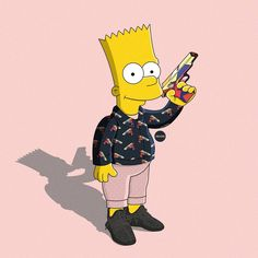Stream Famous Dex X Lil Yachty Type Beat - ``Bussy´´ I Rap/Trap Instrumental by LenX from desktop or your mobile device Dope Cartoons, Dope Cartoon Art, Famous Cartoons, Simpsons Drawings, Simpsons Art, Cartoon Drawings, Simpson Wallpaper Iphone, Iphone Wallpaper, Bart Simpson Tumblr