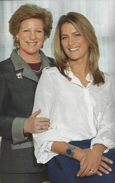 Queen Anne Marie of Greece with daughter-in-law Princess Tatiana