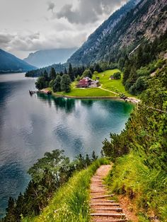 Lake Achensee - Achenkirch, Gaisalm, Austria by Leo W. - via Pars Kutay