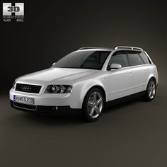Audi A4 (B6) avant 2002 3d model from humster3d.com. Price: $75