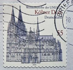 stamp Germany 55c Cologne Cathedral