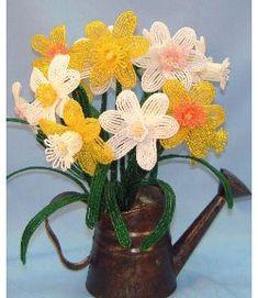 Daffodil and Narcissus Bead Pattern at Sova-Enterprises.com