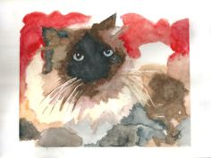 """My husband's baby - """"Sasha"""". I loved painting her sitting on my grandmother's quilt."""