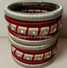 Silk Thread Bangles, Thread Jewellery, Jewellery Designs, Jewelry Patterns, Jewellery Storage, Diy Jewelry, Jewelery, Handmade Jewelry, Silk Thread Necklace