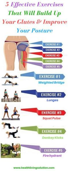 The following 5 reliable exercises are the very best ones to help you build up the gluteus minimus, gluteus medius, and gluteus maximus.