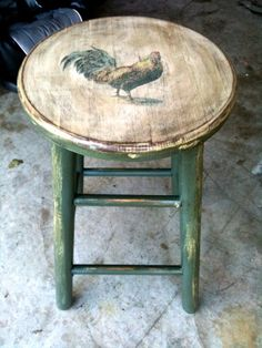 Rooster stools.