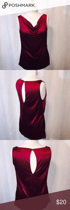 Banana Republic Burgundy Drape Front Top SZ M Banana Republic Burgundy Drape Front Top SZ M Banana Republic Tops Blouses