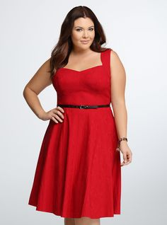 Textured Swing Dress | Torrid