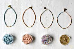 Armbänder - •••beach∆perlen••• 1 von 4 Farben & Gold - ein Designerstück von weiskoenig-julia bei DaWanda