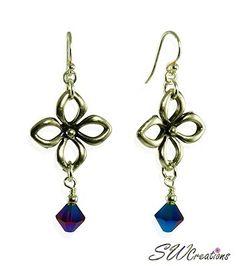 SWCreations Beaded Jewelry Designs - Lustrous Purple Floral Handmade Earrings (http://www.swcreations.net/beaded-jewelry/earrings/french-wire-earrings-erg15-lustrous-purple-floral-handmade-earrings.html)