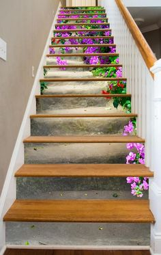 Stairs in Bloom - インテリアデザイン - Renovieren Stairway Art, Stairway To Heaven, Modern Staircase, Staircase Design, Staircase Ideas, Staircase Pictures, Staircase Decoration, Staircase Remodel, Design Your Home