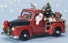 "9.5"" Amusements Musical Animated LED Lighted Pickup Truck Christmas Decoration. #SantaClaus #Santa #Claus #Christmas  #Figurine #Decor #Gift #gosstudio .★ We recommend Gift Shop: http://www.zazzle.com/vintagestylestudio ★"