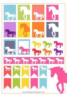Free printable unicorn planner stickers - ausdruckbare Etiketten - freebie