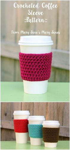 We have gathered a big list of crochet Projects  that will really inspire you to make crochet dog patterns with crocheting hooks.Crochet Coffee Sleeve