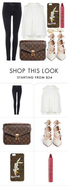 """street style"" by sisaez ❤ liked on Polyvore featuring Samsøe & Samsøe, Louis Vuitton, Gianvito Rossi, Moschino, tarte and Mudd"