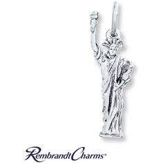 Statue of Liberty Charm Sterling Silver (110 ILS) ❤ liked on Polyvore featuring jewelry, pendants, charm jewelry, charm pendants, sterling silver jewellery, sterling silver charms and sterling silver jewelry