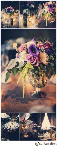 Deanna & Jon | Hartford City Hall & The Society Room Wedding | Photography by Katie Slater www.katieslaterphotography.com | www.celebrationsbychristina.com |  #wedding #weddingplanning #dress #shoes #fashion #bride #groom #connecticut #city #chic #vintage #romance #love #ctbride #ctwedding #newenglandwedding #purple #silver #centerpieces #oliveoil #favors