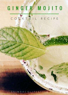 Ginger mojito cocktail recipe