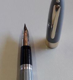 Triumph nib by Sheaffer. Fountain Pen, Silver, Pens, World, Industrial Lamps, Feathers, Money