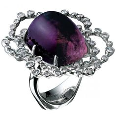Amethyst and diamond ring by Jewellery Theatre