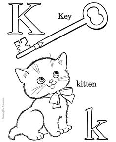 Printable Alphabet Coloring Book Page