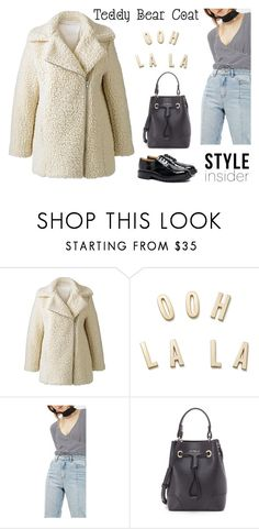 """""""Teddybear coat"""" by pamela-802 on Polyvore featuring Alice & You, Kate Spade, Topshop, Furla, Tricker's and teddybearcoat"""