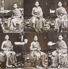 antique Thai traditional costumes