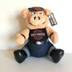 a56f3d9d6 Harley Davidson Motorcycles Play by Play Plush Stuffed Animal Pig Hog 1993