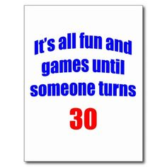 30 Someone turns 30 Postcard