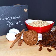 Cinnamon Raisin High Fibre Cookie Ingredients - GL Bakehouse Daily Fiber Intake, High Fibre, Cookies Ingredients, Raisin, Healthy Snacks, Cinnamon, Diet, Meals, Breakfast