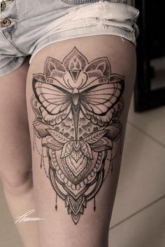 28279d2e69b0a Butterfly mandala Butterfly Mandala Tattoo, Tattoos For Women, Woman Tattoos,  Female Tattoos