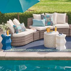 Wicker Lounge Chair, Wicker Sofa, Armless Chair, Chair And Ottoman, Trestle Dining Tables, Sofa Tables, Deep Seat Cushions, Patio Furniture Sets, Cushion Fabric