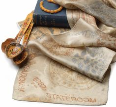What a great idea: Make souvenir rubbings with paint sticks to create a memorable travel scarf. By Lois Jarvis.