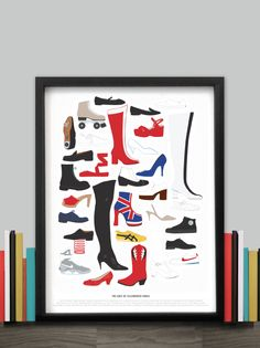 Pop Chart Lab --> Design + Data = Delight --> The Cast of Celebrated Shoes