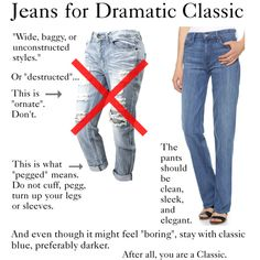 """""""Jeans for Dramatic Classic"""" by ketutar on Polyvore"""